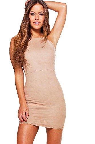 Kleid braun wildlederoptik