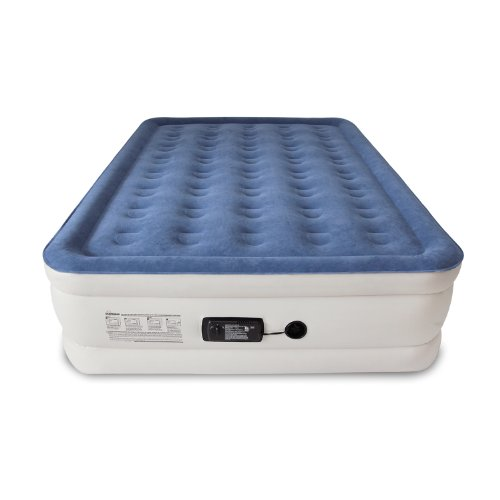 SoundAsleep Dream Series Air Mattress with ComfortCoil Technology & Internal High Capacity Pump - Queen Size (Best Air Bed For Camping)