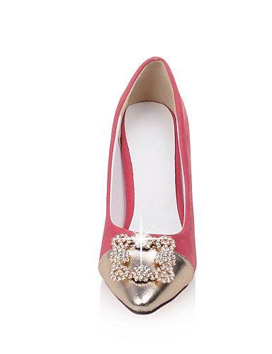 GGX/Damen Schuhe Stiletto Heel Spitz Zulaufender Zehenbereich Farbe Kontrast Strass Pumpe mehr Farbe erhältlich black-us5.5 / eu36 / uk3.5 / cn35