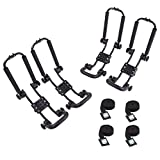 AA Products 2 Pair Steel Double Folding J-Bar Rack...
