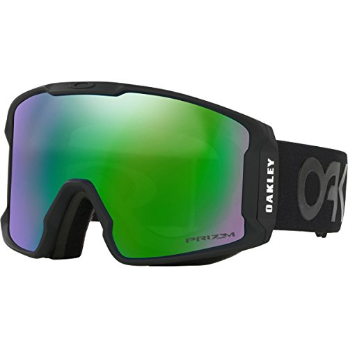 Oakley Line Miner Asian Fit Snow Goggles, Factory Pilot Blackout, - Fit Asian Ski Goggles