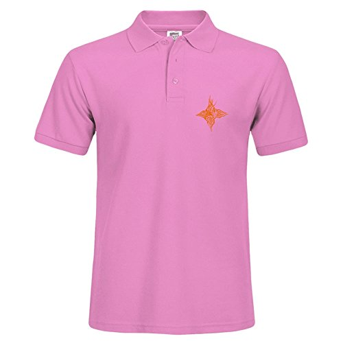 Abstract Orange Bird Various Style Sport Men Polo Shirt Pink Quick Dry Polo Small - Va Williamsburg Outlets
