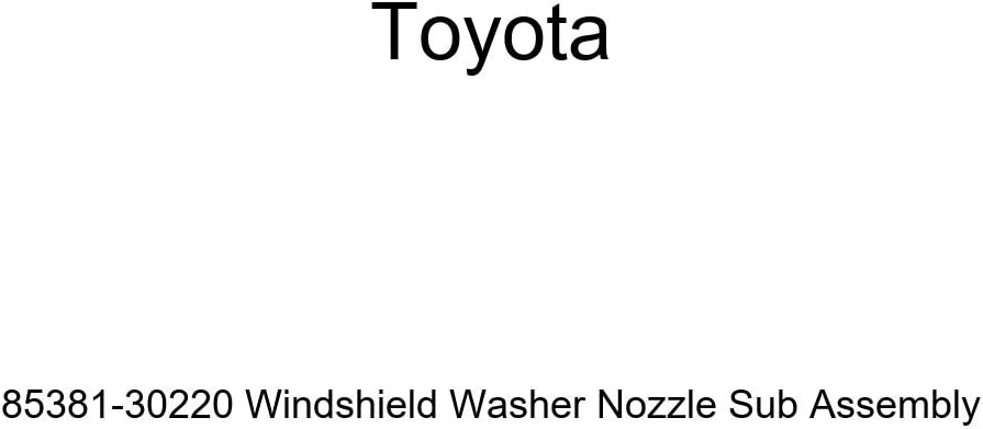 Genuine Toyota 85381-30220 Windshield Washer Nozzle Sub Assembly
