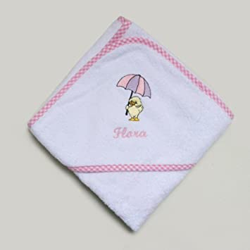Amazon personalised baby hooded towel with duck design pink personalised baby hooded towel with duck design pink by bespoke baby gifts negle Choice Image