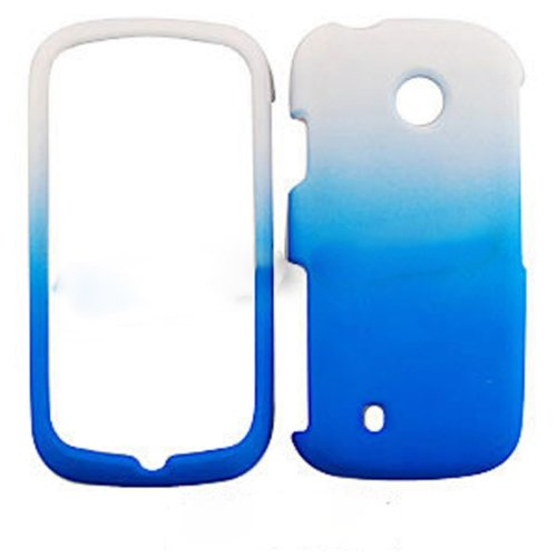 For Lg Cosmos Touch Vn270 Non Slip White Blue A008-jch Matte Cover Hard Case