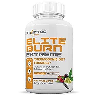 Elite Burn EXTREME - Weight Loss Diet Pills That Work with Green Coffee, Raspberry Ketones, Acai Berry, Acai Berry, Green Tea Extract - Appetite Suppressant & Carb Blocker - 60 Tablets