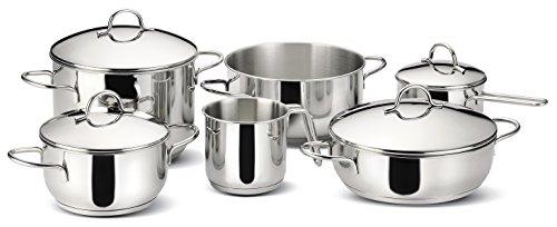 lagostina set di pentole 10 pz gran cucina amazonit casa e cucina