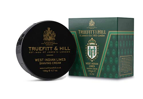 Truefitt & Hill Shaving Cream Bowl- West Indian Limes (6.7 ounces)