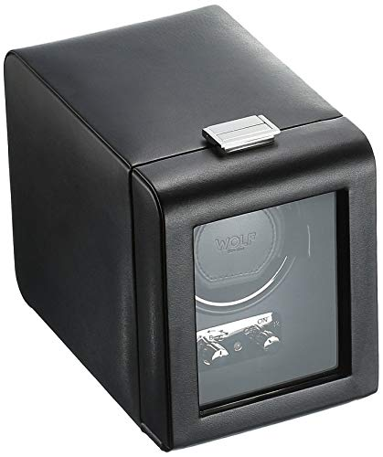 WOLF 270002 Heritage Single Watch Winder with Cover, Black