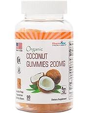 Organic Coconut Gummies 200mg - Gluten Free, Nutrient Rich Snack - 90 Count