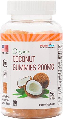 Coconut Gummies 200mg – Gluten Free, Nutrient Rich Snack – 90 Count