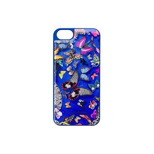 BigBen CHRISTIAN LACROIX - Cover Butterfly für Apple iPhone 5/5S, blau - CL277019