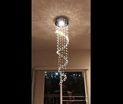 Ella Fashion? Modern Rain Drop Crystal Ball Fixture Ceiling Lighting Chandelier
