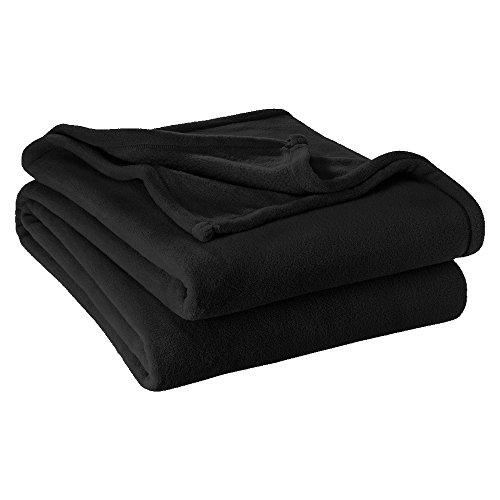 Bare Home Ultra Soft Microplush Velvet Blanket - Luxurious Fuzzy Fleece Fur - All Season Premium Bed Blanket, Twin Extra Long (Twin XL/Twin, Black)