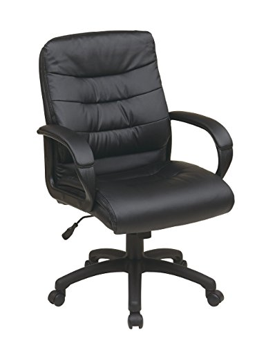 Office Star Padded Faux Leather Seat and Mid Back Executive