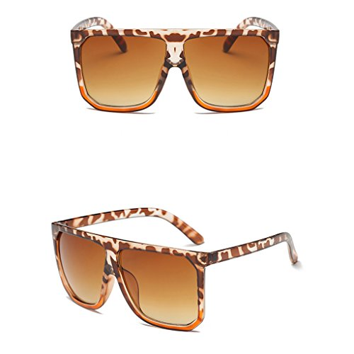 Itemap Fashion Women Cat Eye Square Sunglasses Designer Retro Big Frame Eyeglass Shades (Leopard - Oakley Eyeglasses Kids