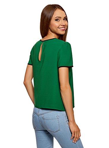 Contrasto Laccetti Donna 6e00n Verde con Top Ultra oodji a e Finitura nF8wApnIqf