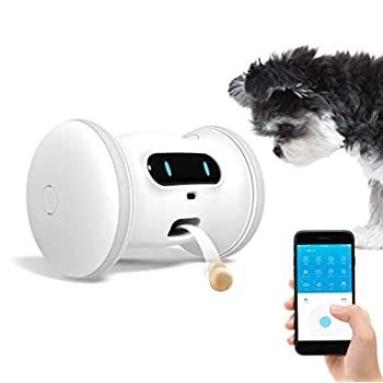 Image of VARRAM Pet Fitness Robot: Treat Tossing, Schedule Automatic Drives, Manual Play via App, Activity Tracking, Interactive Toy for Cats & Dogs Pet Supplies