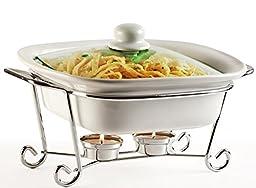 Circleware Ceramic Buffet, 1.5 Qt, Square Casserole