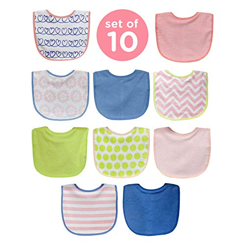 Neat Solutions Girl 10 Pack Water Resistant Bib Set from Neat Solutions