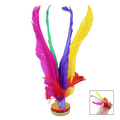 OLIVE US-New Outdoor Sports 4 Colors Feather Chinese Jianzi Game Shuttlecock 8.3 High LW