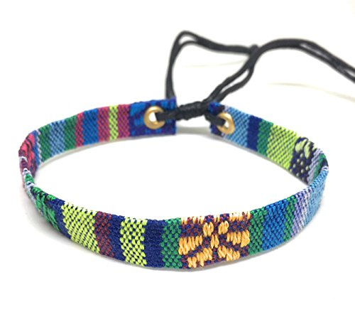 Price comparison product image LGBT Woven Handmade Braided Friendship Gay & Lesbian Bracelet (1P Flat style,Blue)