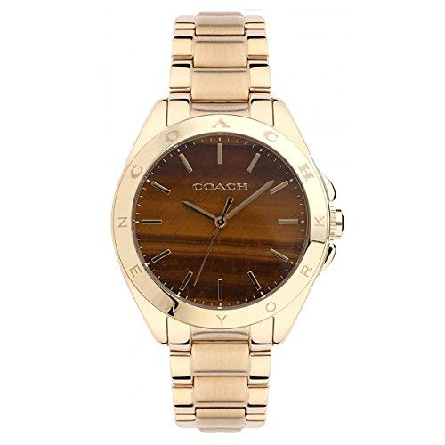 - Coach Womens 14502053 Tristen Gold Tone Tiger Eye Dial Watch