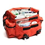 First Responder First Aid Kit Orange Trauma Bag Fully Stocked Best Overall Value