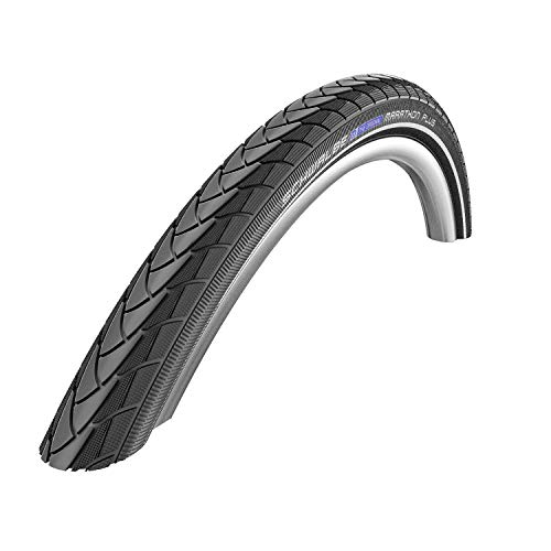 "Schwalbe Marathon Plus 700C 45C Wire Clincher Endurance Smart Guard 1100g Tire, Black, 29"" x 2/3"