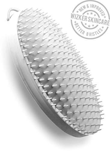 Ingrown Hair Exfoliating Brush Face, Legs, Bikini by WIZKER, Original Wet Dry Scrubber Eliminates Prevent Razor Bumps for Men, Women, Neck, Beard, Armpit