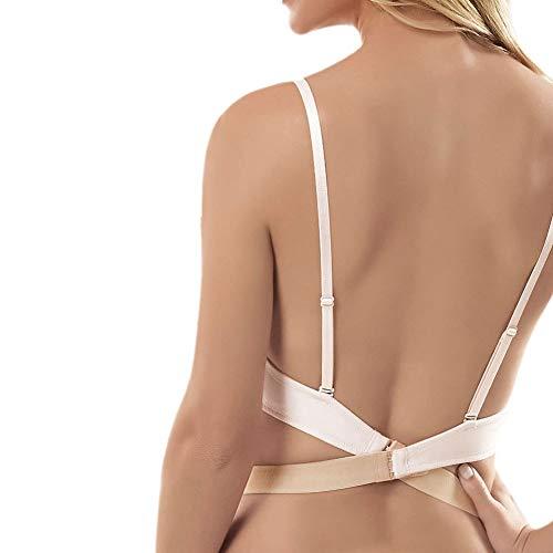 Low Back Strap - JUST BEHAVIOR Bra Strap Converter Bra Strap Extender Converter clip for Backless Low back bra and dress