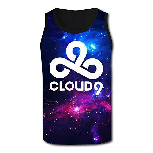Hyejizn Mens Novelty Tank Tops,Cool Cloud 9 Logo 3D Printed Stylish Sleeveless T Shirt Sport Vest M Black ()