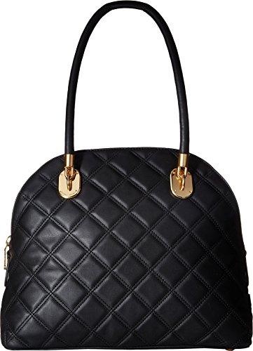 Cole Haan Womens Benson Quilt Dome Satchel Black One Size (Handbag Quilt Purse)