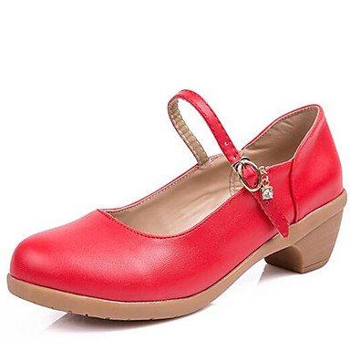 Danza Polipiel Bajo Rojo Fucsia 5 UK4 5 5 Sneakers CN37 De Baile Beige Zapatos US6 Moderna El De EU37 Exterior Talón Mujeres 7 Negro fwqXnIC