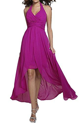 La Elegant Ausschnitt Abendkleider Braut Pink Brautjungfernkleider Ballkleider Lang Rock A Chiffon Linie V Blau mia axqrSwaf