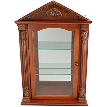 Amazon.com: Glass Curio Cabinets - Rosedale - Wall Mounted Curio ...