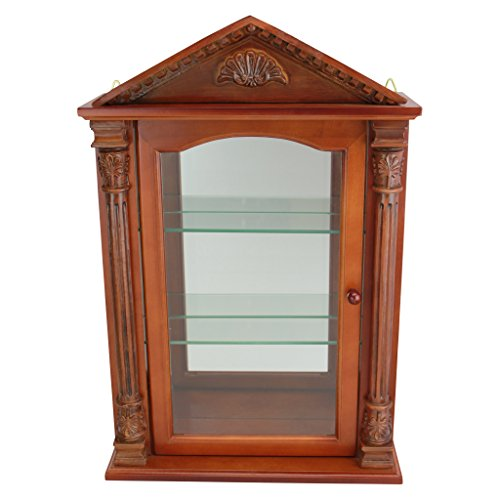 Design Toscano Glass Curio Cabinets - Essex Hall - Wall M...