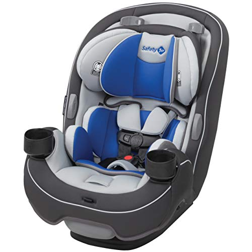 Safety 1st Grow and Go 3-in-1 Convertible Car Seat, Carbon Wave, Grey, Blue