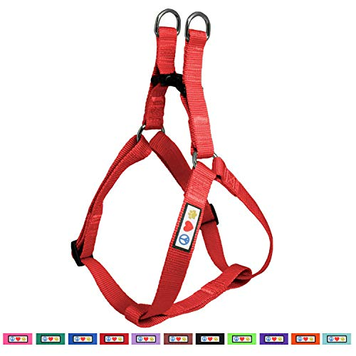 Pawtitas Solid Color Step in Dog Harness or Vest Harness Dog Training Walking of Your Puppy Harness Extra Small Dog Harness Red Dog Harness