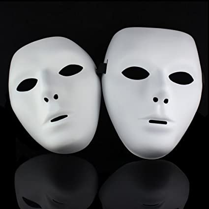 Lowpricenice One pair Jabbawockeez Hiphop Mask Halloween Cosplay Costume  Party mask White