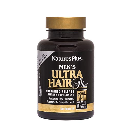 - Natures Plus Men's Ultra Hair Plus - 60 Sustained Release Tablets - Hair Growth Support Supplement for Men, Promotes Fuller, Healthier Hair - Gluten Free - 30 Servings