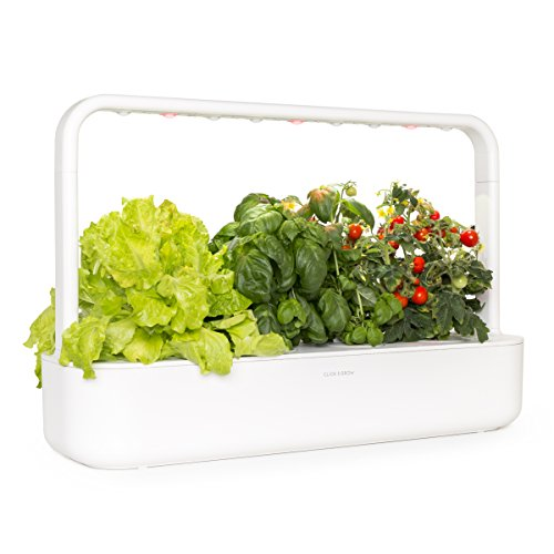 Click and Grow Smart Garden 9 Indoor Home Garden (Includes 3 Mini Tomato, 3 Basil and 3 Green Lettuce Plant pods), - Live Italian Charm