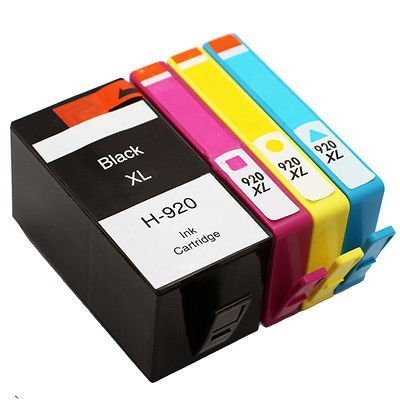 RIGHTINK 4 Pack 920XL Ink Cartridges Suitable for HP Officejet 7500 7000 6000 6500 (920 Combo Pack)