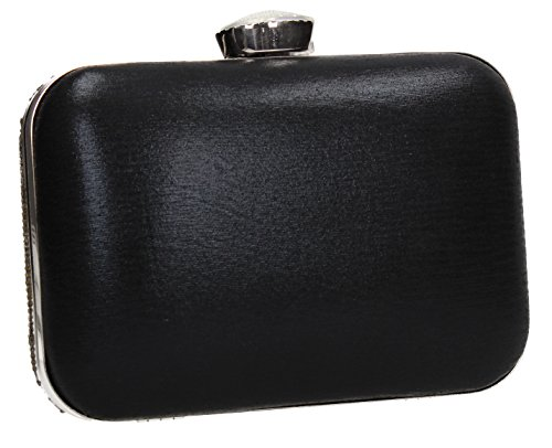 Tone Party Bag Wedding Jane SWANKYSWANS Prom Womens Clutch Two Diamante Box Black nFEOHF