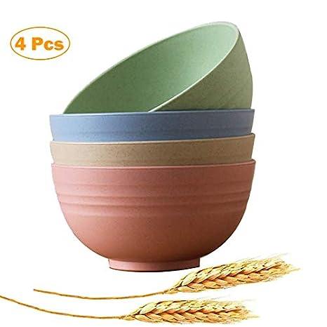Amazon.com: Juego de cuencos de trigo para microondas ...