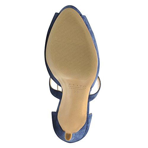 Femme Bleu Evita Shoes Daim Sandales 41 BEPPINA xFw1URtq10