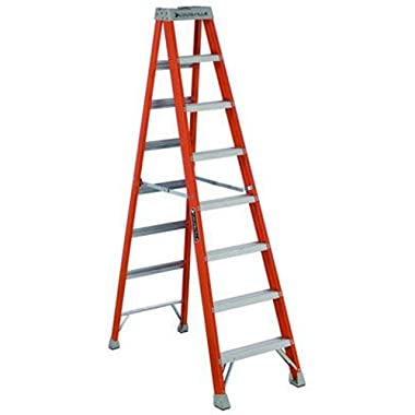 Louisville Ladder FS1508 300-Pound Duty Rating Fiberglass Step Ladder, 8-Feet