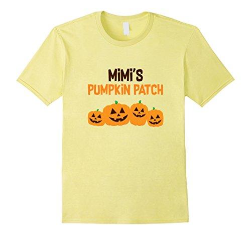 [Mens Mimi's Pumpkin Patch 4 Shirt, Cute Halloween Gift XL Lemon] (Mime For Halloween)