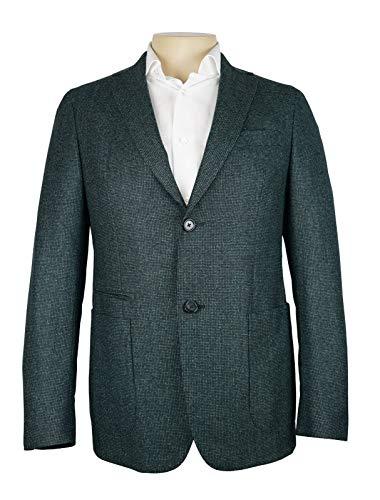 Z Zegna Blue Green Birdseye Pattern Drop 8 Deco Jacket New 100% Wool 38 R ()