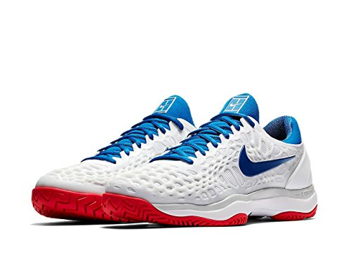 Jay Top White Low 's Zoom Silver Cage NIKE Pure Red Action Metallic Air Sneakers Blue Hc Platinum Men 3 8q5v7